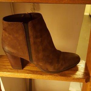 Franco Sarto Brown Suede Leather Booties